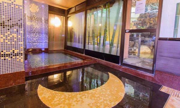 竹取物語がモチーフの内風呂。