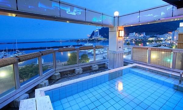 最上階にあり太平洋が一望できる露天風呂。